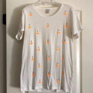 White embellished tee shirt